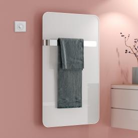 Kermi Eveo infrared heating panel set with towel bar white, 255 Watt, electric set WKS