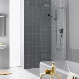 Kermi Filia XP short side panel on bath TSG clear / silver high gloss