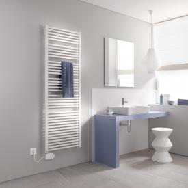 Kermi Geneo quadris-E radiator for electric operation only, with electric set FKS white, electric set FKS left