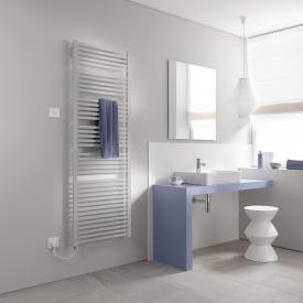 Kermi Geneo quadris-E radiator for electric operation only, with electric set WFS metallica, electric set WFS left