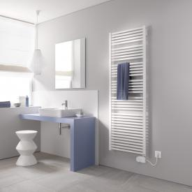 Kermi Geneo quadris-E radiator for electric operation only, with electric set FKS white, electric set FKS right