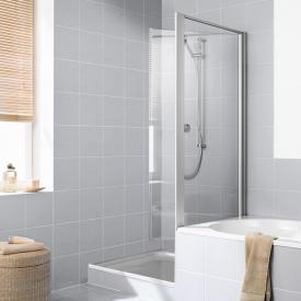 Kermi Ibiza 2000 short, moveable side panel on bath TSG clear / matt glossy silver