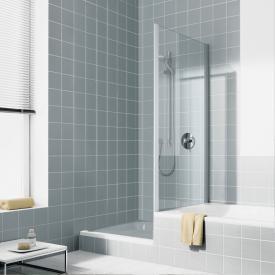Kermi Ibiza 2000 short side panel on bath TSG clear / silver matt gloss