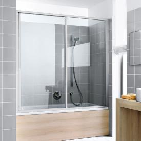 Kermi Ibiza 2000 bath screen sliding door 2-part with fixed panel TSG clear with KermiClean / matt glossy silver