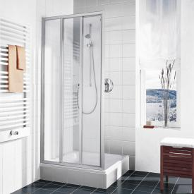 Kermi Ibiza 2000 three-part sliding door with fixed panel TSG clear with KermiClean / matt glossy silver