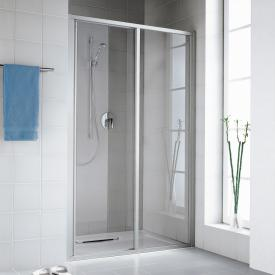 Kermi Ibiza 2000 two-part sliding door with fixed panel TSG clear with KermiClean / matt glossy silver