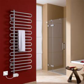 Kermi Icaro-E radiator, electric operation only metallica, W: 60 H: 184.1 cm, 800 Watt, electric set FKS left