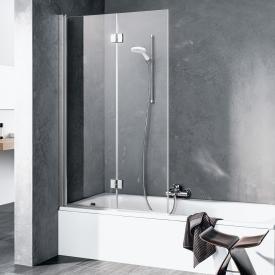 Kermi Liga folding bath screen 2-wing TSG clear / matt glossy silver