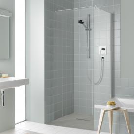 Kermi Liga short side panel next to bath TSG clear / silver high gloss