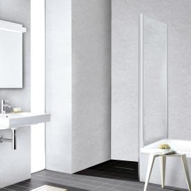 Kermi Liga short side panel on bath TSG clear with KermiClean / glossy matt silver