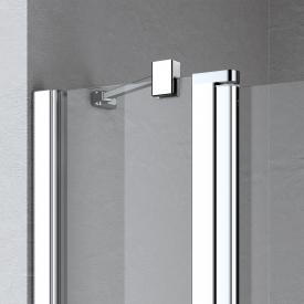 Kermi Liga stabiliser for wall-mounted side panel/fixed panel, special length silver high gloss