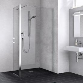 Kermi Liga Walk In wall with movable wing TSG clear with KermiClean / silver high gloss