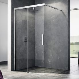 Kermi Nica Walk In wall sliding door TSG clear with KermiClean / silver high gloss