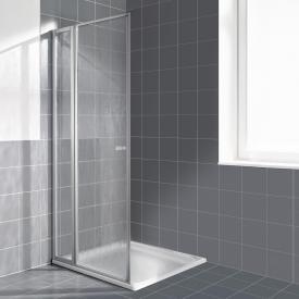 Kermi Nova 2000 hinged door with fixed panel acrylic glass kerolan fontana / matt glossy silver