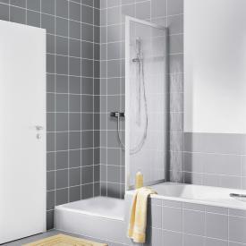 Kermi Nova 2000 Paroi latérale raccourcie sur baignoire Verre synthétique kerolan fontana/argent fini mat