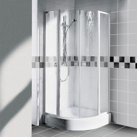 Kermi Nova 2000 quadrant with hinged doors and fixed panels