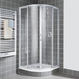 Kermi Nova 2000 quadrant with sliding doors and fixed panels