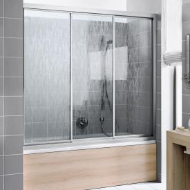 Kermi Nova 2000 bath screen sliding door 3-part acrylic glass kerolan fontana / matt glossy silver