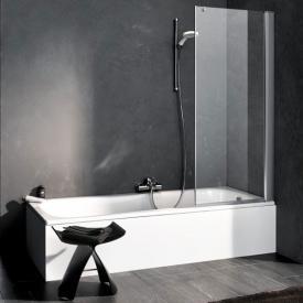 Kermi Pega bath screen hinged wing TSG clear with KermiClean / silver high gloss