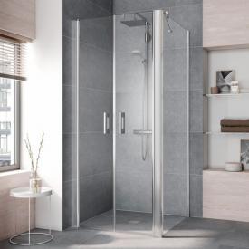 Kermi Pega side panel TSG clear / silver high gloss