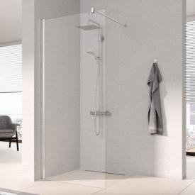 Kermi Pega Walk In WALL TSG clear with KermiClean / silver high gloss