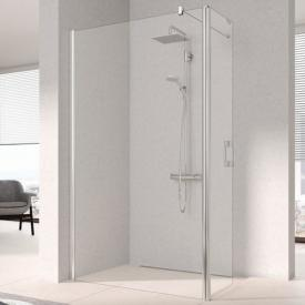 Kermi Pega Walk In WALL with movable wing TSG clear / silver high gloss