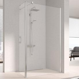 Kermi Pega Walk In WALL with movable wing TSG clear with KermiClean / silver high gloss
