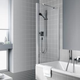 Kermi Raya short side panel on bath TSG clear / matt glossy silver