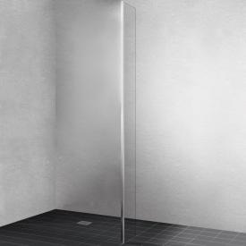 Kermi Walk In XB fixed panel at an angle TSG clear / silver high gloss