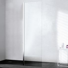 Kermi Walk In XB fixed panel in line TSG clear / silver high gloss