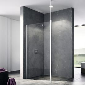 Kermi Walk In XB wall with variable stabilisation TSG clear / silver high gloss