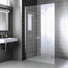 Kermi Walk In XC wall TSG clear with KermiClean / silver high gloss