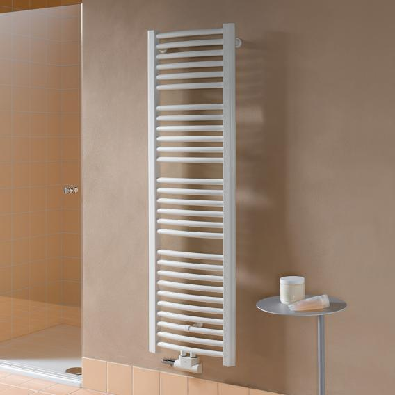 Kermi Basic-50 bathroom radiator for hot water or mixed operation with curved pipes white, 993 Watt