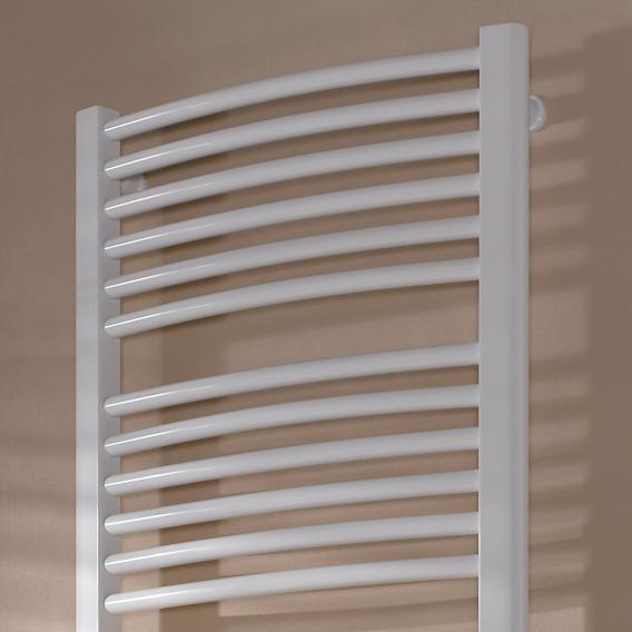 Kermi Basic-50 R radiator with curved tubes white, 1216 Watt