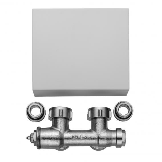 Kermi Casteo valve tap block chrome