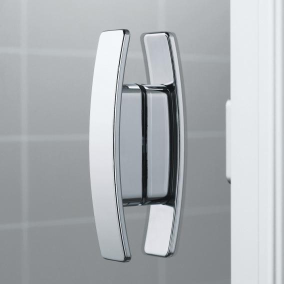 Kermi Ibiza 2000 pivot door TSG clear / matt glossy silver