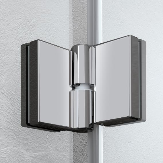 Kermi Liga bi-fold door TSG clear / matt glossy silver