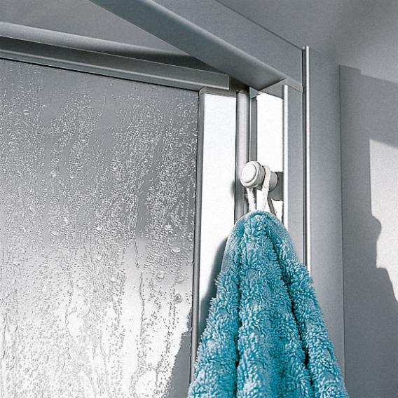Kermi Ibiza 2000 bi-fold door acrylic glass kerolan fontana / matt glossy silver