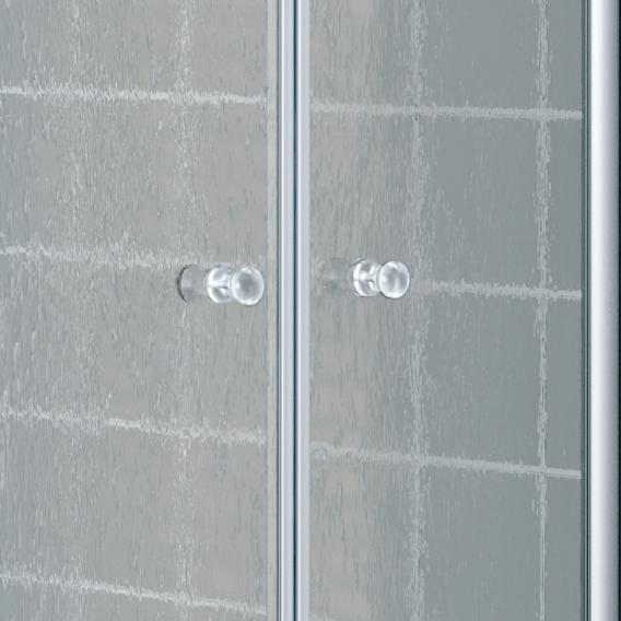 Kermi Nova 2000 hinged door acrylic glass kerolan fontana / matt glossy silver