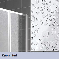 Kermi Vario 2000 folding screen 1-wing Kerolan Pearl / matt glossy silver