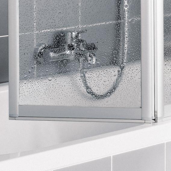 Kermi Vario 2000 folding screen 3-wing over the bath