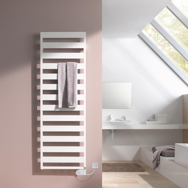 Kermi Casteo-E radiator electric operation only white, electric set FKS R