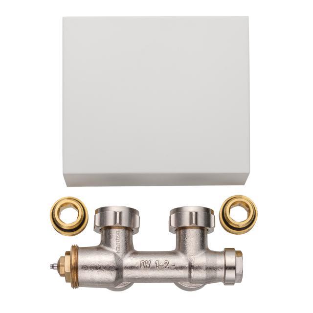 Kermi Casteo valve tap block white