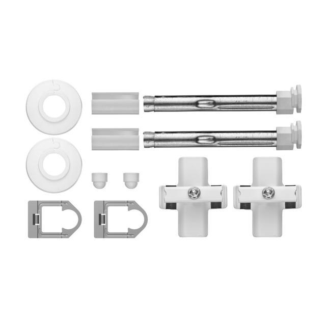 Kermi Decor basic range drilled bracket set, multi-columns as from H: 120 cm