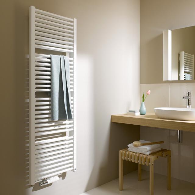 Kermi Duett towel radiator for hot water or mixed operation white, 1567 Watt