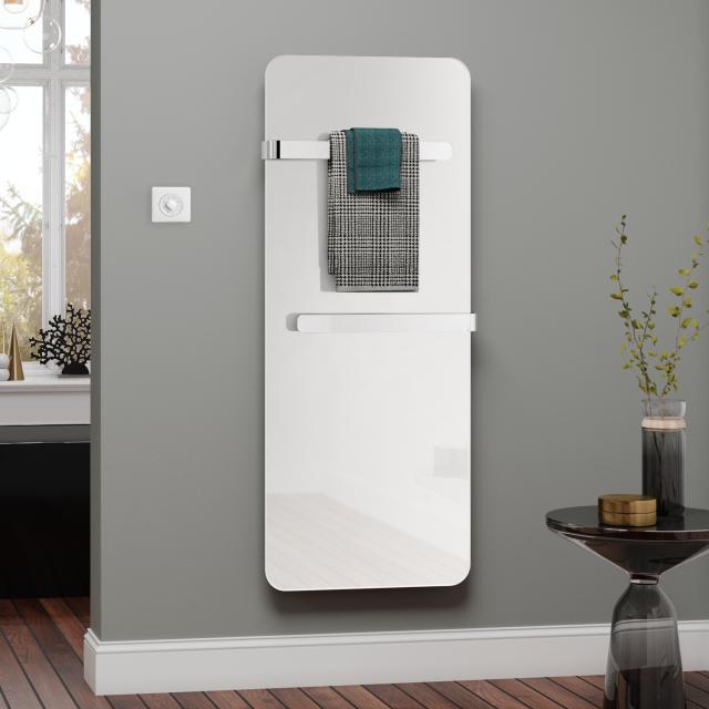 Kermi Eveo infrared heating panel set with towel bar white, 400 Watt, electric set WFS