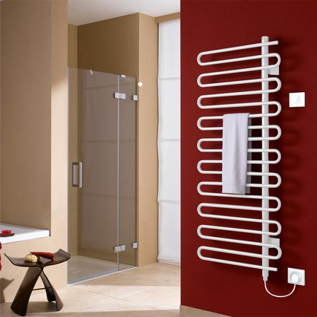Kermi Icaro-E radiator, electric operation only white, W: 60 H: 142.1 cm, 600 Watt, electric set WFS right