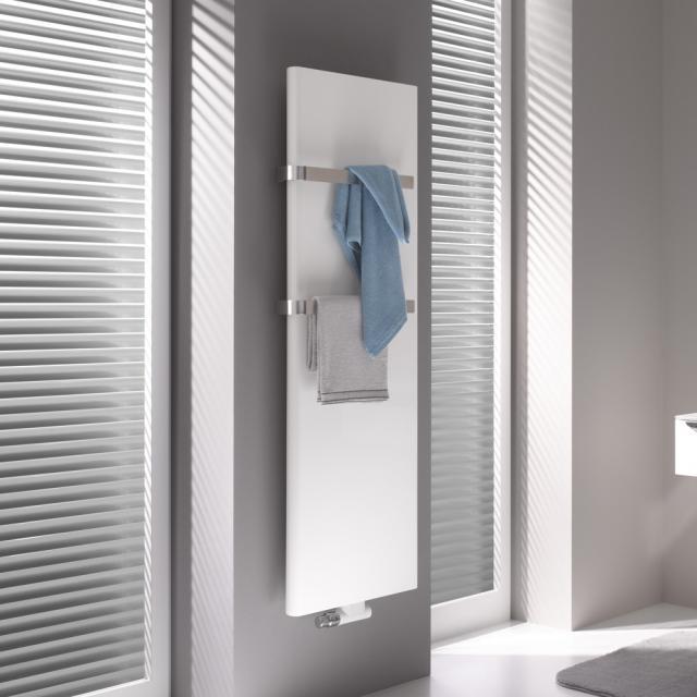 Kermi Pateo towel radiator for all hot water operation white, 1406 Watt