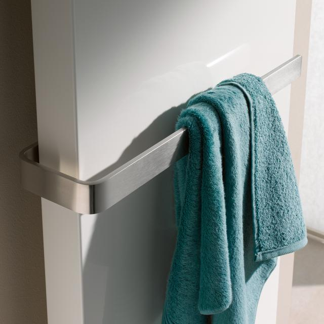 Kermi Rubeo towel rail brushed stainless steel