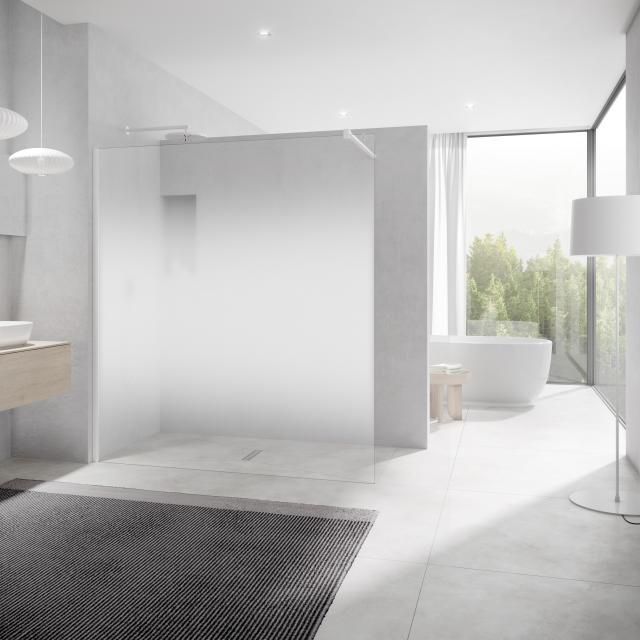 Kermi Walk In XB wall TSG decor stripe 4 with KermiClean / soft white
